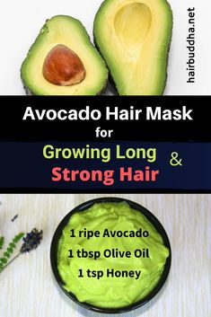 Use avocado hair mask to increase shine, strengthen and grow hair faster. Your all-in-one solution is avocado hair mask. hair mask for damaged hair homemade Help Hair Grow, How To Grow Your Hair Faster, Grow Long Hair, Hair Not Growing, How To Long Hair, Tips For Long Hair, Hair Growing Mask, Hair Growing Remedies, Growing Long Hair Faster