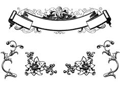 Free Antique Floral Ornaments and Scroll Clip Art   123Freevectors THIS IS A SCROLL