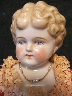 "18"" Antique Blonde ""China Doll"" Turned Head MKD Germany No Damage 