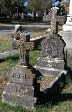 This intricate and beautiful grave marker is for an infant, Adeline Cochran, and is located in Mount Holly Cemetery in Little Rock, Arkansas. Her parents called her Adele.