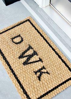 Monogrammed door mat