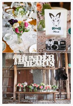 // there is thunder in our hearts // #perfectweddingdecor #allinthedetails