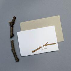 oh snap letterpress card