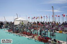 Transition at Quateira Triathlon ETU