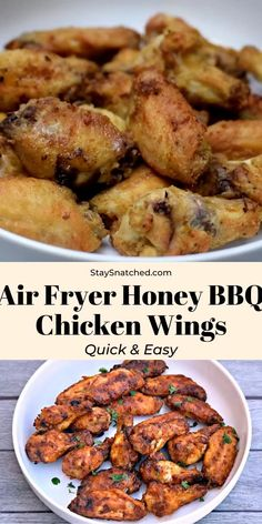 Appetizer Recipes Discover Easy Air Fryer Honey BBQ Chicken Wings These Easy Honey BBQ Chicken Wings are a quick recipe for crispy and crunchy wings made in the oven. If you are a fan of KFC Buffalo Wild Wings Applebees then you will love these! Air Fryer Recipes Chicken Wings, Honey Bbq Chicken Wings, Air Fryer Oven Recipes, Air Fryer Dinner Recipes, Chicken Wings Airfryer, Chicken Marinade For Bbq, Recipe For Chicken, Oven Fried Chicken Wings, Air Fryer Recipes Videos