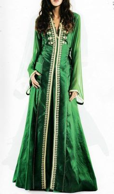 Green Long Sleeved Caftan Maxi Dress robe Caftan Kaftan Dubai Dress maxi Soirée Marocain moroccan kleid  fiançailles wedding قفطان by LeidaMaiden on Etsy https://www.etsy.com/listing/216098260/green-long-sleeved-caftan-maxi-dress