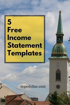 Enjoy these 5 free income statement templates. They are excellent examples income statement templates to help assess your business performance. Investment Group, Investment Companies, Income Statement, Grant Writing, Business Performance, Statement Template, Investing Money, Taj Mahal, How To Make Money