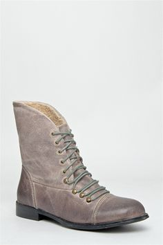 Miz Mooz - Hiro Flat Ankle Boot - Grey