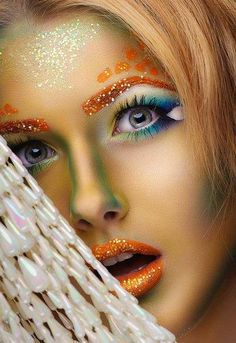 Tatyana Zolotashko Makeup Artist #glitter #beauty #orange