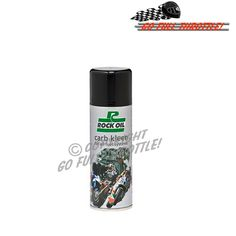 Rock Oil Carb Kleen Spray for all fuel systems. Suitable for use in cars, motorbikes, scooters, vespa, lambretta, MX and off road bikes, ATVs, quad bikes, marine vessels and snow mobiles etc...
