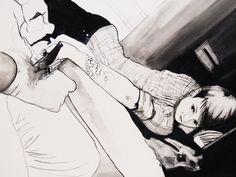 In the tattoo salon, by Viktoria Szunyoghy