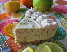Raw Vegan Citrus Poppyseed Cheesecake