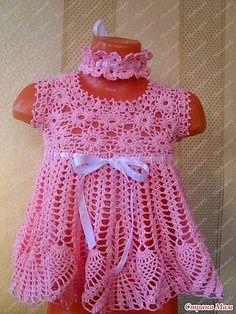crochet girls dress