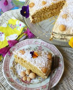 Coconut Flour Cake with Coconut Cream Cheese Frosting