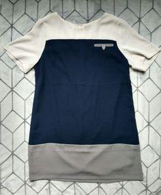 NWT Anthropologie KACHEL Colorblock Shift T-Shirt Dress Career Work Sz 10 NEW #Kachel #Shift