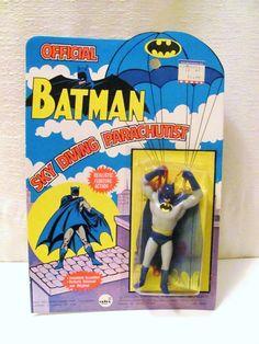 Vintage 1973 Official Batman Sky Diving Parachutist Action Figure ahi Brand RARE | eBay