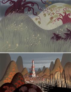 Cenários de Samurai Jack, por Scott Wills | THECAB - The Concept Art Blog