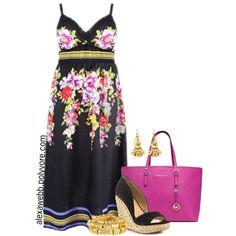 "#plus #size ""Plus Size - Maxi Dress"" by alexawebb on Polyvore"