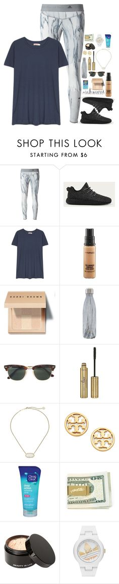 """when ur best friends are freaking goals and u are just like a burnt zucchini"" by lydia-hh ❤ liked on Polyvore featuring adidas, Organic by John Patrick, MAC Cosmetics, Bobbi Brown Cosmetics, S'well, Ray-Ban, tarte, Kendra Scott, Tory Burch and Clean & Clear"