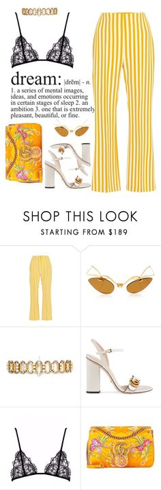 """""""Untitled #155"""" by mrsfashionkilla ❤ liked on Polyvore featuring Clover Canyon, Erickson Beamon and Gucci"""