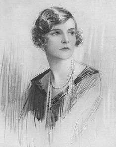 Lady Louis Mountbatten (née Edwina Ashley, later Countess Mountbatten of Burma) sketched by Percival Anderson, 1937 Reine Victoria, Victoria Reign, Queen Victoria, Familia Windsor, British Nobility, Hesse, Queen Mother, British Royals, Historical Photos