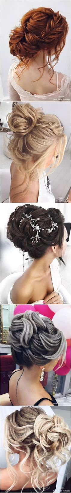 Wedding hairstyle inspiration for long hair up-dos