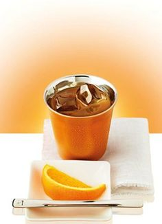 Iced Coffee with Orange Juice   Enjoy this vitamin-packed creation this summer! Sure to give you an extra energy-boost, this colorful and delicious iced decaf coffee recipe will quench your thirst.