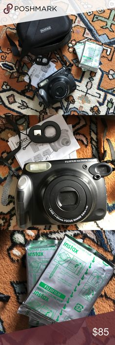 FujiFilm Instax 210 Instant Camera Love this instant camera but have to downsize. I'm selling the camera with two rolls of film and a carrying bag. It also has the instructions and a close up lens attachment. Like new, only used with 1 roll of film. fujifilm Other