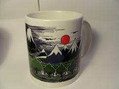 The Hobbit book cover by J.R.R. Tolkien 11 ounce mug, Lord of the Rings