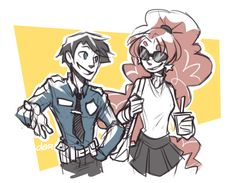 "dar-draws: "" an officer and a model """