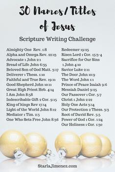 Names of Jesus #namesofJesus #scripturewriting