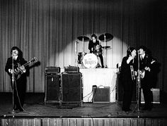 The Beatles perform at the Baltimore Civic Center in (Maryland Historical Society) Show Photos, Old Photos, Beatles One, John Lennon Paul Mccartney, All My Loving, Famous Guitars, Classic Rock And Roll, American Tours, The Fab Four
