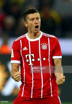 Robert Lewandowski of Muenchen reacts during the DFL Supercup 2017 match between Borussia Dortmund and Bayern Muenchen at Signal Iduna Park on August 5, 2017 in Dortmund, Germany.
