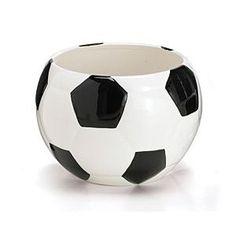 Soccer Ball Planter/Container For Home Decor