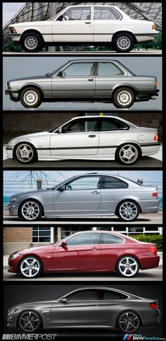 BMW 3-series coupe to 4-series coupe.