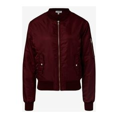 Bomber ($120) ❤ liked on Polyvore featuring outerwear, jackets, red jacket, shiny nylon jacket, nylon bomber jacket, fleece-lined jackets and style bomber jacket