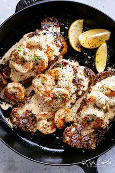 Steak & Creamy Garlic Shrimp (Surf and Turf)
