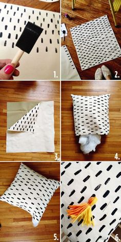 Super Cute (& Quick) DIY Porch Pillows 2019 Punch up your porch swing's personality with these pretty perfectly practical DIY pillows The post Super Cute (& Quick) DIY Porch Pillows 2019 appeared first on Pillow Diy. Diy Deco Rangement, Diy Throw Pillows, Bolster Pillow, Couch Pillows, Cushions, Sewing Projects, Craft Projects, Fabric Stamping, Diy Porch