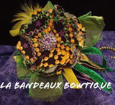 Mardi Gras Headband with Bead Print Fabric by LaBandeauxBowtique, $12.00