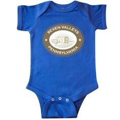 Inktastic Seven Valleys Pennsylvania Infant Creeper Baby Bodysuit Town Hometown Vintage Cities Home State Pride Towns States U.s. Gifts Pa Clothing Cute Kids Gift One-piece Hws, Infant Boy's, Size: 6 Months, Blue