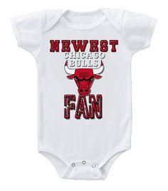 NEW Basketball Baby Bodysuits Creeper NBA Chicago Bulls Newest Fan #3 #etsy #baby #chicago #bulls #basketball #babyclothes #onesie #fans #crazyfan