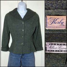 Hey, I found this really awesome Etsy listing at https://www.etsy.com/listing/471939809/1950s-heather-moss-green-knit-wool