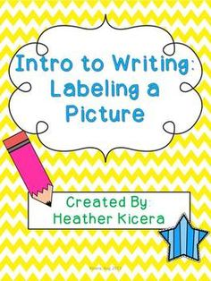 Use this packet at the beginning of the year to introduce your young students to writing for a length of time... Allow them to label a picture they have drawn with these printables!