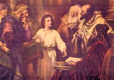 5th The Finding of the Child Jesus in the Temple. When Jesus was twelve years old,  His parents went up to Jerusalem for the feast of Passover.  As they were returning home, the boy Jesus remained behind.  After three days, they found Him in the temple.  Jesus went down with them to Nazareth, and was obiedent to them.  And Jesus increased in wisdom and in stature, and in favor with God and man.  (Luke 2:41-5)