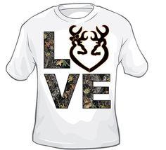 LOVE Hunting-Shirt- Deer-doe heart on Etsy, $10.00