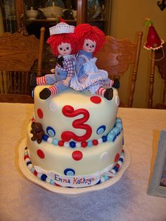 Raggedy Ann and Andy cake by CAKES BY LAUREN, via Flickr