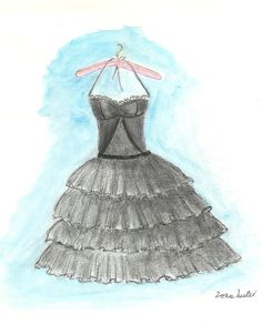 Little black dress girl room décorjust for girls teen by Zoia, $15.00