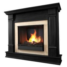 Real Flame Silverton Gel Fuel Fireplace Finish: Black