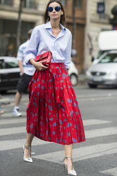 Give your workwear a new season update and slip into a pleated skirt...