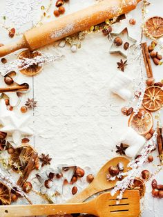 Christmas baking background stock photo (c) AGfoto (#8584003) | Stockfresh